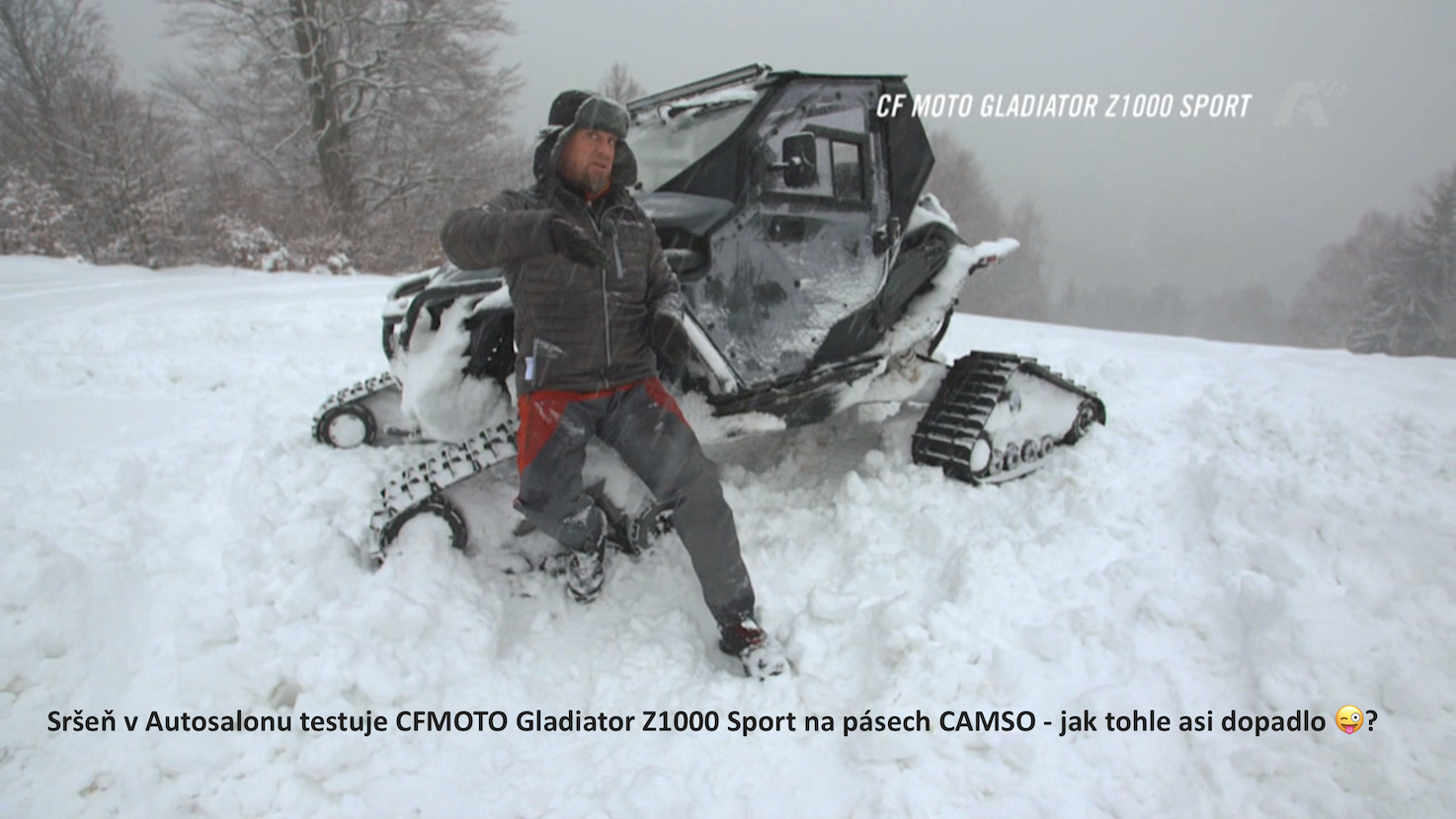 Pepa Sršeň v Autosalonu na CFMOTO Gladiator Z1000 Sport