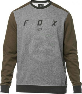 Pánská mikina FOX DESTRAKT CREW FLEECE, HEATHER GRAPHITE, LFS18F